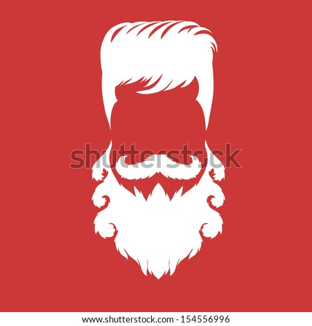 Hipster fashion silhouette style, vector illustration - stock vector