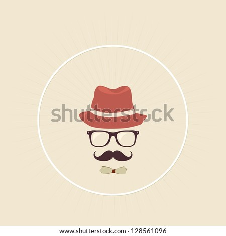 Hipster man - stock vector