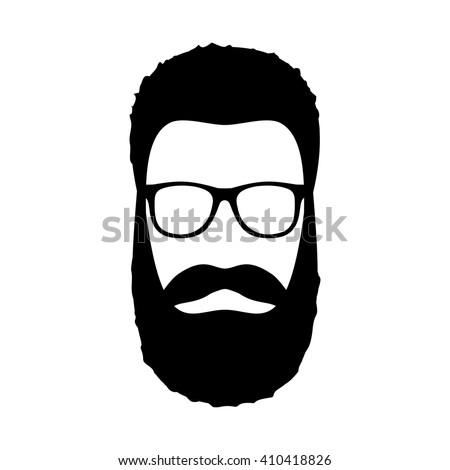 beard and glasses silhouette   pixshark     images