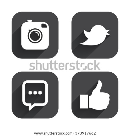 Hipster Photo Camera Icon Like Chat Stock Vector 2018 370917662