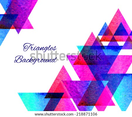 Hipster pyramid background pattern. - stock vector