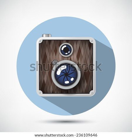 Hipster Retro Style Photo Camera - stock vector