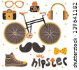 Hipster Signs Elements. - stock photo