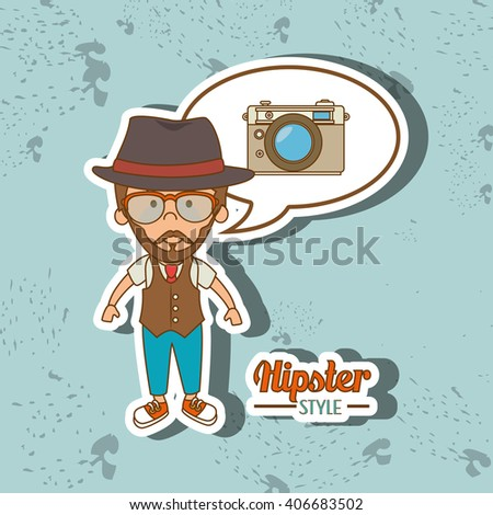 hipster style  design  - stock vector