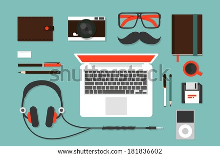Hipsters  - stock vector