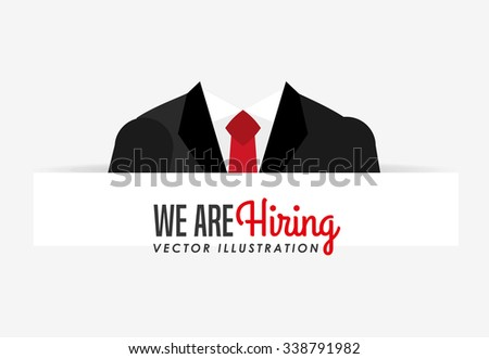hiring workers design, vector illustration eps10 graphic  - stock vector