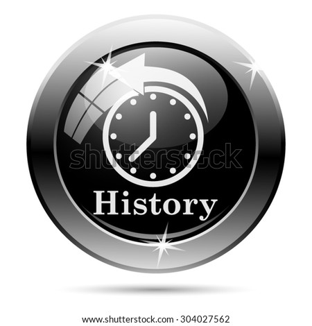 History icon. Internet button on white background. EPS10 vector  - stock vector