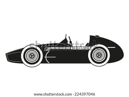History of car racing - stock vector