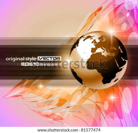 Hitech Abstract Business Background with Abstract Glowing motive to use for corporate presentation flyers or posters. - stock vector