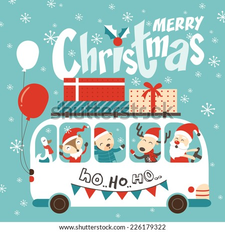 Ho Ho Ho~ Merry Christmas! - stock vector