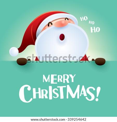 HO HO HO! Merry Christmas!  - stock vector