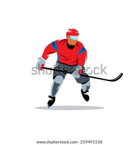 Hockey Branding Identity Corporate vector logo design template Isolated on a white background - stock vector