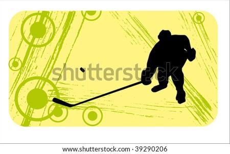 hockey player - stock vector