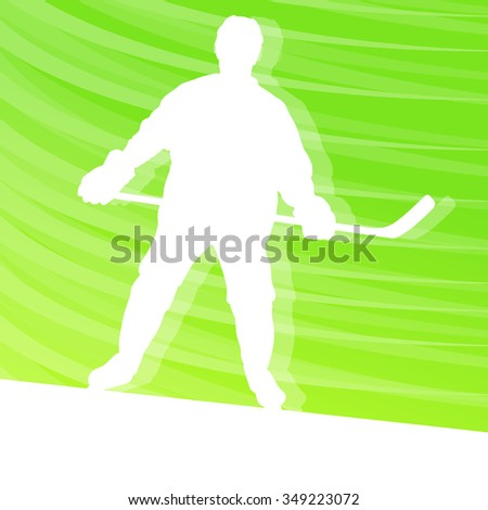 Hockey player silhouette vector background colorful concept made of transparent lines