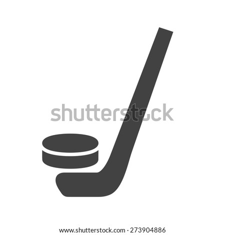 Hockey, puck, ball, stick icon vector image. Can also be used for sports, fitness, recreation. Suitable for web apps, mobile apps and print media. - stock vector