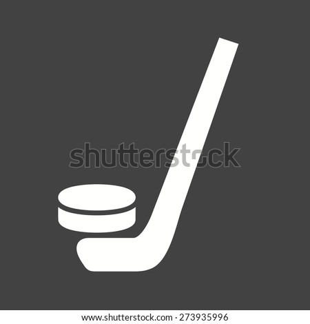 Hockey, puck, ball, stick, sports icon vector image. Can also be used for fitness, recreation. Suitable for web apps, mobile apps and print media. - stock vector