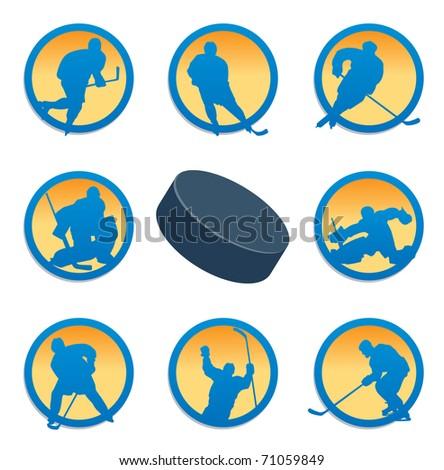 Hockey set. Vector illustration - stock vector