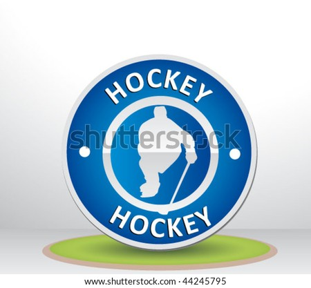 hockey sign - stock vector