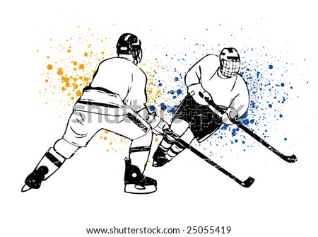 hockey vector poster - stock vector