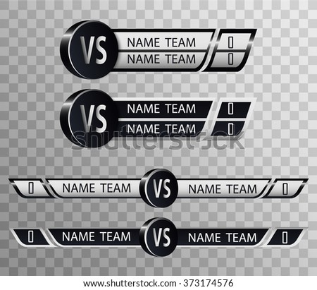 Hockey Versus Logo. VS Vector Letters Illustration. Competition Icon. Fight Symbol. - stock vector