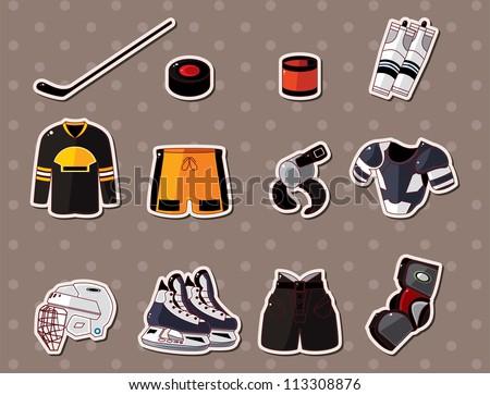 hocky stickers - stock vector