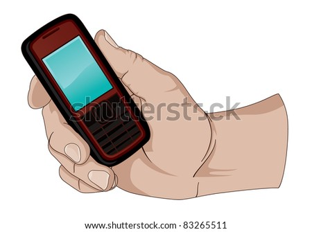 Holding a Cell Phone.