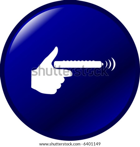holding a remote control button - stock vector