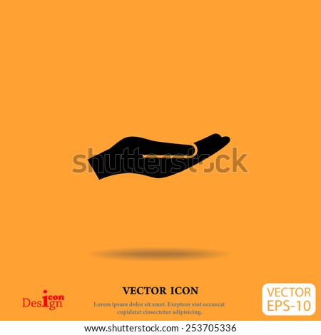 holding palm vector icon - stock vector