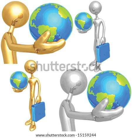 Holding The World - stock vector