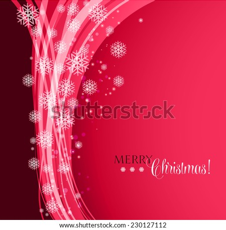 Holiday abstract background with snowflakes - stock vector