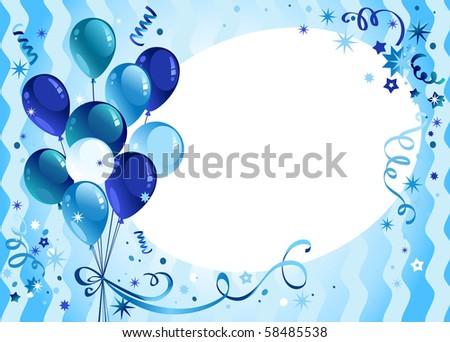 Holiday announcement for Boys - stock vector
