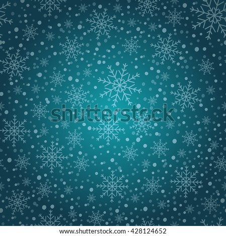 Holiday background, Christmas background, snowflake pattern, snowflake decorations, Christmas Decoration, winter background. Vector illustration. - stock vector