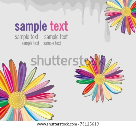 holiday background with color flowers - stock vector