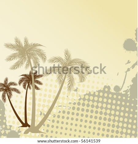 Holiday background with palms