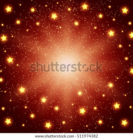 Holiday background with shining stars. Vector illustration