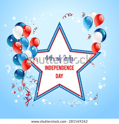 Holiday background with star. Place for text. - stock vector