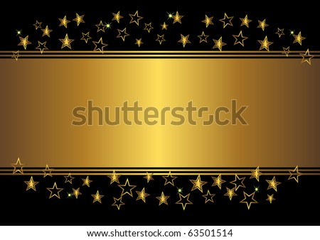 holiday background with stars. vector illustration. - stock vector