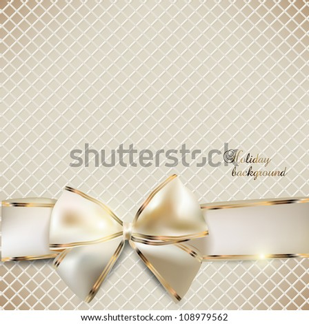 Holiday banner with ribbons. Vector background - stock vector