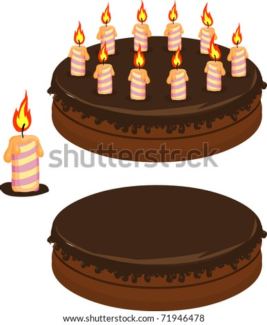 Holiday cake - stock vector