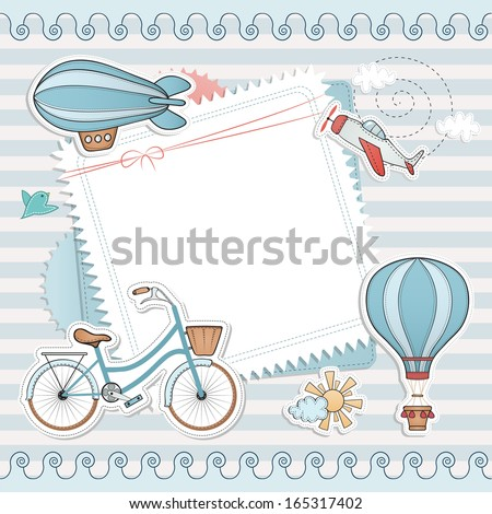 Holiday card design. - stock vector