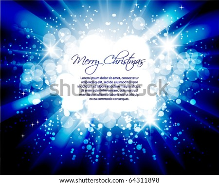 holiday card design - stock vector