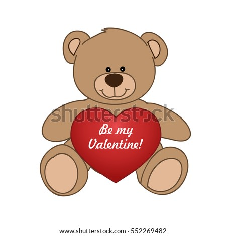 Beautiful Happy Teddy Bear Valentines Day Vector 150328022 – Teddy Bear Valentines Day Card