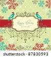 Holiday card with  luxury vintage frame - stock vector