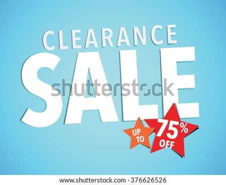 Holiday Clearance Sale Sign - Save up to 75% poster - stock vector