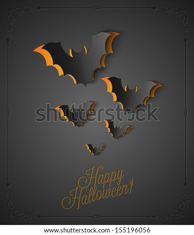 holiday - frame happy halloween - stock vector