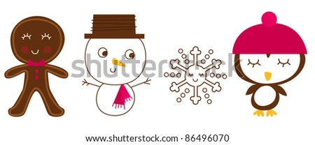 Holiday Friend Vector Illustrations