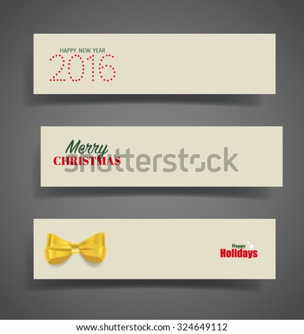 Holiday gift coupons, vector illustration. - stock vector