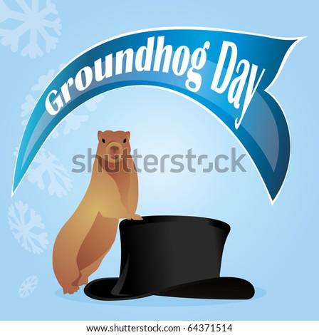 holiday Groundhog Day - stock vector
