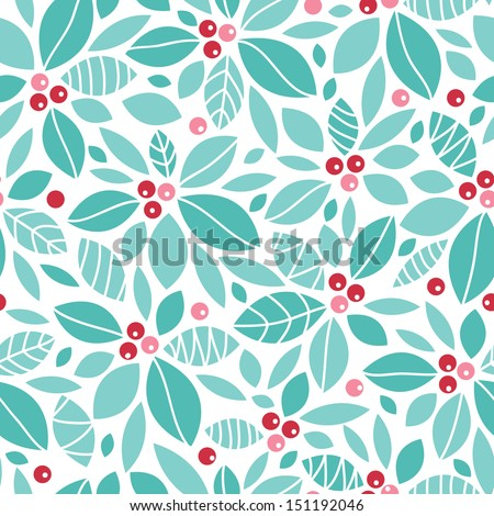 Holiday Holly Berry Background - stock vector