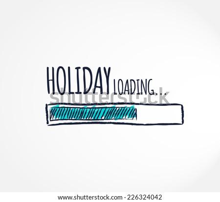 Holiday, loading. Progress bar design. Vector illustration.  - stock vector